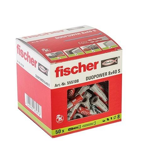 CAJA TACO DUOPOWER 8x40 + TORNILLO FISCHER (50 UDS.)