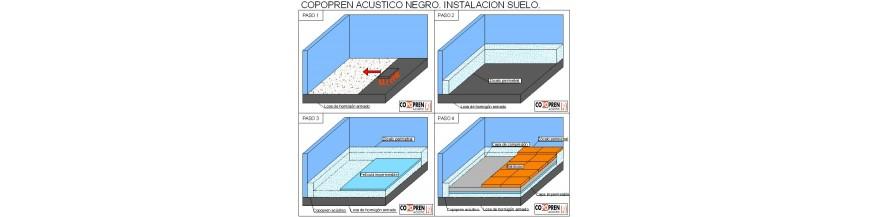 Instalaci n de aislamiento ac stico en suelo jv for Aislamiento acustico suelo